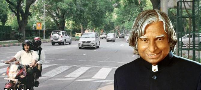 Aurangzeb Road in Delhi has been renamed as Dr A P J Abdul Kalam Road