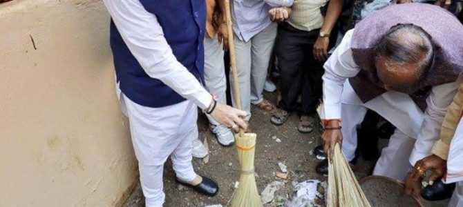 Glimpses of Shri Amit Shah ji participated in Swachhata hi Seva campaign in Hyderabad